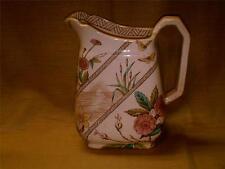 Vintage Pitcher w/ Bramble-Cattails-Butterflies-Pond w/ Rising Sun-Flowers-Water