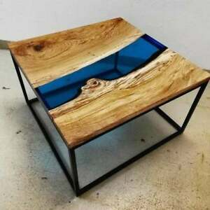 """24"""" Resin table, epoxy Coffee table top, epoxy wooden table Decors"""