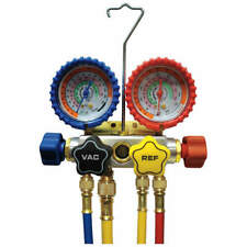 IMPERIAL 846-CS Mechanical Manifold Gauge Set,4-Valve