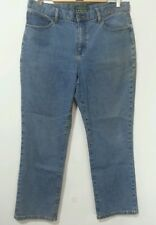 LAUREN JEANS CO. CLASSIC STRAIGHT BLUE JEANS SIZE 14 NWT RALPH HIGH WAISTED