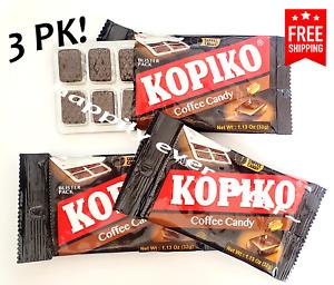 Kopiko Coffee Candy - 3 Blister PK,  Hard Coffee Candy *US SELLER & FREE SHIP*