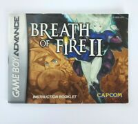 Breath of Fire II 2 Nintendo Gameboy Advance Authentic MANUAL ONLY GBA Capcom
