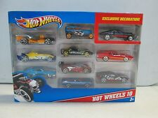 Hot Wheels 10 Car Gift Pack w blue Chevelle
