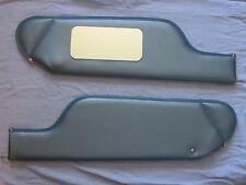 1971-76 cadillac  convertible  new sun visors with vanity mirror blue
