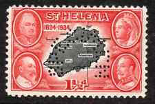 St Helena SPECIMEN stamp 1 1/2d, George V,  1834 - 1934 Centenary SG-116