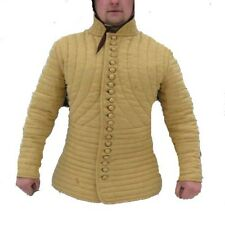 Medieval Gambeson Medieval Padded collar full sleeves Thick yellow color im