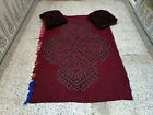 Vintage Handmade Moroccan Azilal Rug Beni Ourain Wool Carpet With 2 Pillows