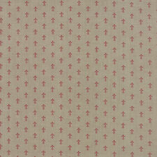 LE MARAIS~FRENCH GENERAL~BY 1/2 YD~MODA~13736-13~red FLEUR DE LIS ON Roche Gray