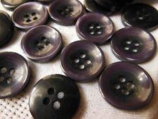 lot 12  boutons violet deux trous couture mercerie diamètre: 1,7 cm ref 2051