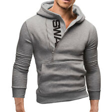 US Men's Winter Slim Hoodie Warm Hooded Sweatshirt Coat Jacket Outwear Sweater
