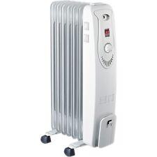 HEQS 7 Fin Adjustable Column Oil Heater White 1500W
