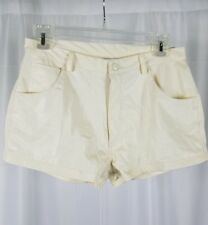 Highway Sport Womens Cream Polyurethane High Waist Shorts Size 9