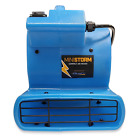 Soleaire Mini Storm 1/12 HP Mini Air Mover Carpet Dryer Floor Blower Fan, Blue
