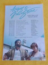 ANGUS & JULIA STONE - 2018 Australia Tour - Laminated Promo Poster - OFFICIAL!