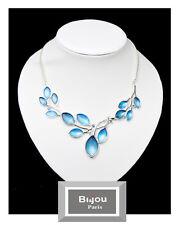 Luxus Statement Halskette Bi&Jou Paris Kette Emaille Versilbert Kristall