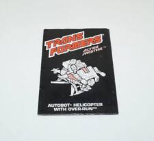 Over-run Action Figure Robot Instruction Manual 1989 Hasbro G1 Transformers