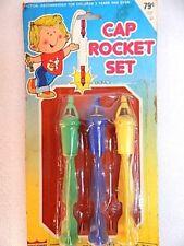 Nos Vintage Cap Rocket Set Toy 3 Snap Launch Bomb Grenade Lot Retro Hong Kong