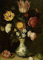 """high quality oil painting handpainted on canvas """"still life with flowers  """""""