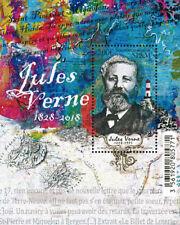 Saint Pierre Miquelon 2018 SPM Jules Verne 1828 writer map lighthouse phare ms1v