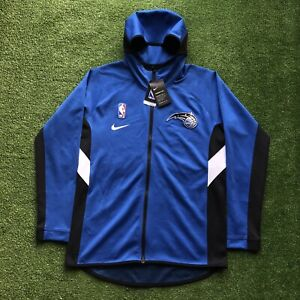 New Nike NBA Therma Flex Showtime Orlando Magic Full Zip Hoodie Blue Mens Medium