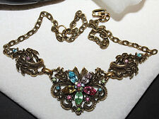 RARE SIGNED CORO NECKLACE WITH BREATHTAKING STONES-WOW EXCELLENT AND STUNNING