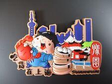 Shanghai china Fridge imán souvenir Asia, Rubber, templos, nuevo
