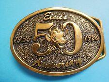 VINTAGE BORDEN ELSIE THE COW HEAVY BRASS BELT BUCKLE DAIRY 50 ANNIVERSARY BTS