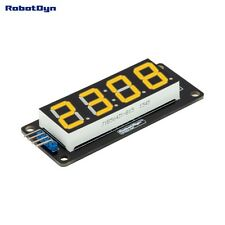 LED display tube module, TM1637 driver, 4-Digit, 7-segments, Yellow Robotdyn