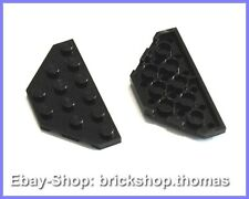 Lego 2 x Flügel schwarz (3 x 6) Platte - 2419 - Wedge Plate Black - NEU / NEW