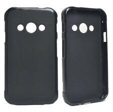 For Samsung Galaxy Xcover 3 G388f Black Matte TPU Gel Skin Case cover