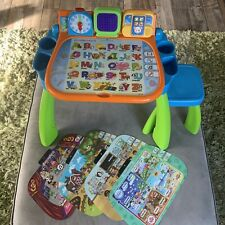 VTech Touch and Learn Activity Desk Deluxe With 4 2 Sided Activity Mats
