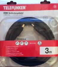 TELEFUNKEN 3m HighSpeed HDMI Kabel vergolde Stecker 3D HDTV Beamer PS4 XBOX