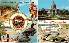 MINNESOTA-   MULTIVIEW   TWINS STADIUM, Capitol, etc..1971  Postcard
