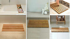 Large Bamboo Wood Wooden Slatted Duck Board Rectangular Bathroom Bath Shower Mat
