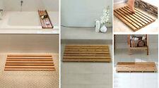 Large Bamboo Wood Wooden Slatted Duck Board Rectangular Bathroom Bath Shower Mat