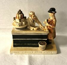 1949 P.W. Baston Sebastian Miniatures The Corner Drug Store Porcelain Figurine