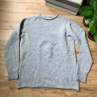 Guideboat Ply The Waters Wool Cashmere Gray Knit Pullover Sweater Women's Small