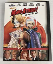 Mars Attacks! (1996, Dvd) Jack Nicholson Pierce Brosnan Sarah Jessica Parker Lnc