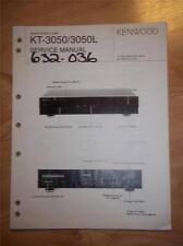 Kenwood Service Manual ~ KT-3050/- 3050L Tuner ~ Original Reparatur