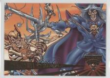 1995 Fleer Ultra Skeleton Warriors #75 Grimskull vs Aracula Non-Sports Card 1k3