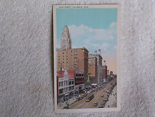 Columbus Oh/High Street/Trolleys-1920s Cars/Printed Color Photo Pc/Unposted