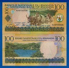 Rwanda P-29 100 Francs Year 1.9.2003 Uncirculated Banknote