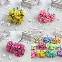 ITS- 6Pcs Artificial Silk Fake Flowers Floral Wedding Bouquet Party Home Decorat