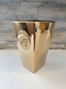 Rosenthal Versace Vase Gold  32 cm top