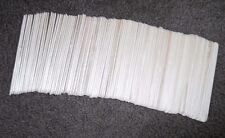 "100 Wood 6"" Regular Popsicle Sticks Craft Sticks Smooth Tongue Depressors Wooden"