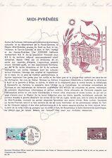 Document Philatélique Timbre 1er Jour : 10/01/ 1976 - Midi Pyrénées