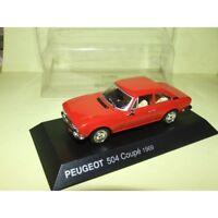 PEUGEOT 504 Coupé Rouge 1969 NOREV 1:43 blister