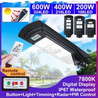200/400/600W LED Fotovoltaico Lampione Stradale Faro Pannello Solare Telecomando