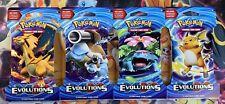 Pokemon TCG: 4x Evolutions Sleeved Booster Packs (Art set)