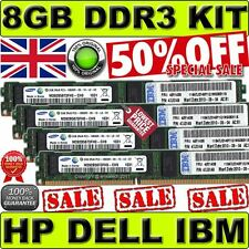 8 GB (4 x 2 GB) KIT DDR3 PC3-10600R 1333 MHz per HP 500202-061 501533-001 ecc